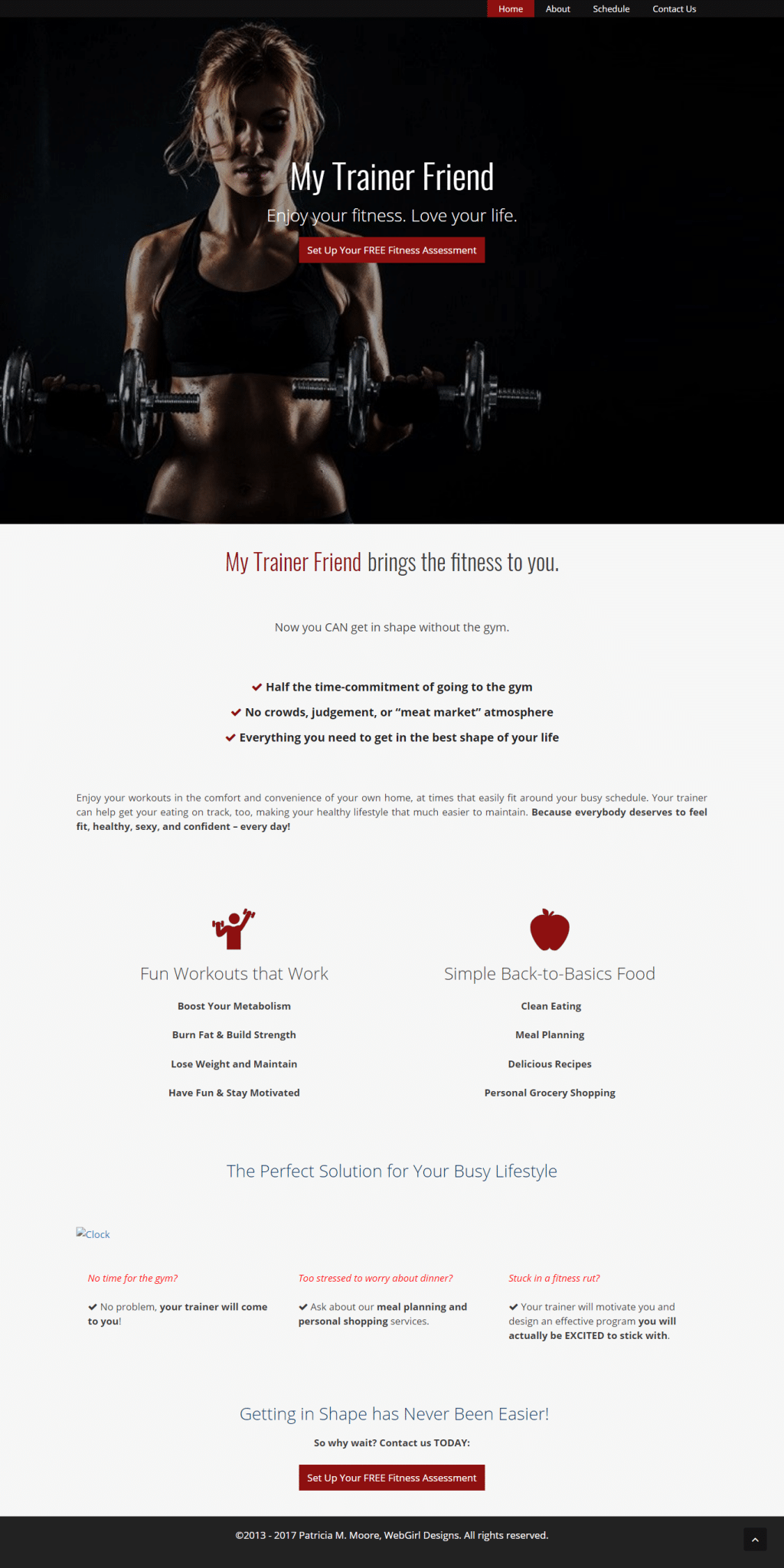 My Trainer Friend Homepage